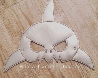 Shark Mask - Shark Costume - Pretend Play - Dress Up - Shark Birthday Party - Shark Party Favor
