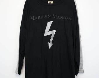 Marilyn Manson Shirt Vintage tshirt 1998 Remix & Repent Tee 1990s Daisy Berkowitz Band Hard Gothic Rock Alternative Metal