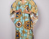 Kaftan Dress, Maxi Dress, Long boho dress, Light Blue dress, Summer dress, Blue Kaftan, kaftan : Funky Elegant Collection No.1p