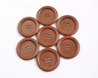 Large wooden buttons 3.5cm, giant wooden buttons, natural wood buttons, large coat buttons, 35mm buttons, buttons, UK sewing supplies
