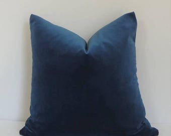 SPRING FORWARD SALE Blue Velvet Upholstery Pillow Cover Decorate with HomeLiving Home Decor Interior Design Choose Size