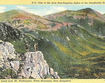 Mt. Washington, Great Gulf, White Mountains, New Hampshire - Vintage Postcard - Postcard - Unused (A1)