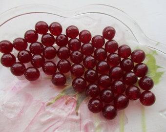 Czech Preciosa 8mm Garnet Glass Beads 50pcs.