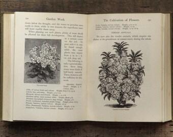 Vintage gardening book 1910s Garden Work by William Good, gardener's gift
