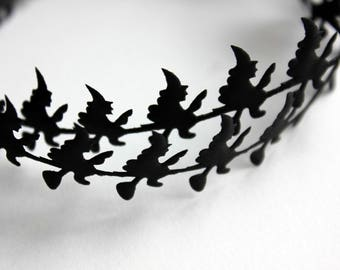 Black Witch Satin Cutouts - Witch Garland