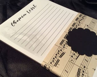 Clever Musical Shopping List Note Pad