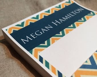 Personalized Moroccan Patterned Note Pad