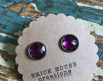 Purple Passion Jeweled Earrings