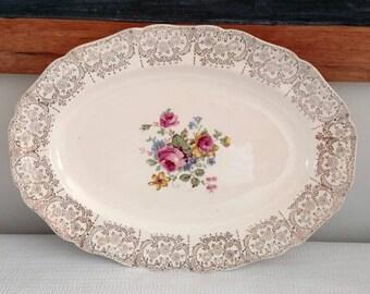 Canonsburg Floral Platter
