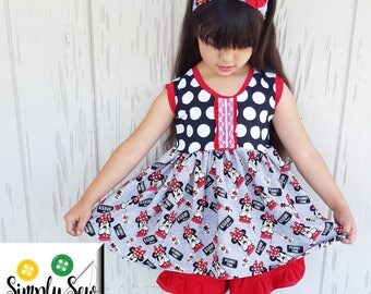Girls Toddler Disney Minnie Mouse KNIT tunic 18 24 2T 3T 4T 5T 6 6x