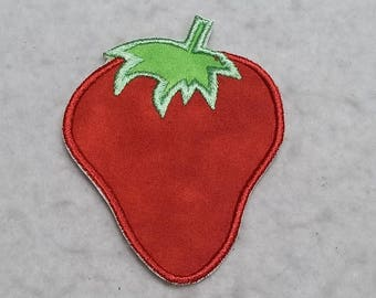 Strawberry (small) Tutu & Shirt Supplies - fabric iron on Applique Patch 8544