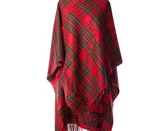 Royal Stewart Lambs Wool Cape