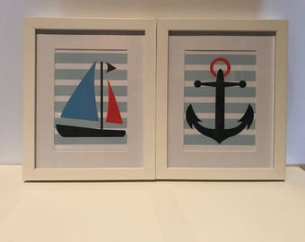 Boat and Anchor Print