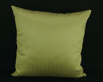 "18"" x 18"" Pillow Cover Green Knife Edge"