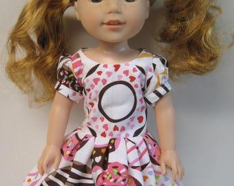 Doughnut Love, Short Sleeved Dress for your 14.5 Inch Doll