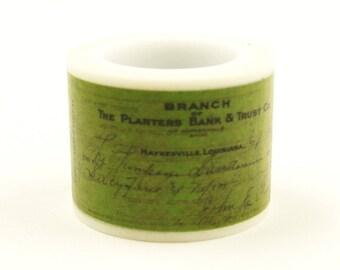 Cashier's check - Japanese Washi Masking Tape - 30mm wide - 5.5 yard