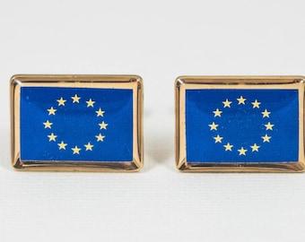 European Union Flag Cufflinks