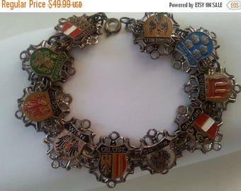 Now On Sale Vintage Austrian Bracelet * Lion Shield Dragon Eagle Bracelet * 1930'a 1940's Vintage Jewelry