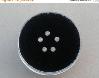 ON SALE 5 Gray White Diamond Loose Rounds  2mm each
