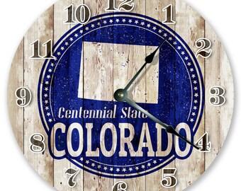"10.5"" Colorado Centennial Stamp - Large 10.5"" Wall Clock - Home Décor Clock - 3313"