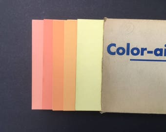 "Vintage Color-Aid Box of Swatches 6"" x 9"""