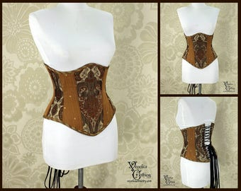 Steampunk Renaissance Copper & Caramel Steel Boned Corset - You Choose Your Corset Style - Custom Sized