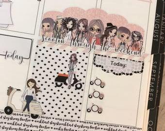 Scooter Girls Planner Sticker Set for Erin Condren, Happy Planner, Traveler's Notebooks and More