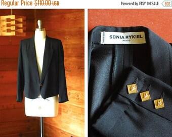 20% off weekend sale / vintage Sonia Rykiel black blazer / size medium