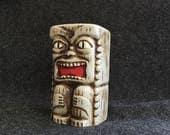 Hawaiian Tiki Bank coin bank by Westwood Japan ceramic tiki figurine 1950s 1960s