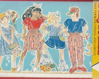 1989 Sewing Pattern Butterick Busybodies 3800 girls dress, top, skirt, shorts, pants size 12-14