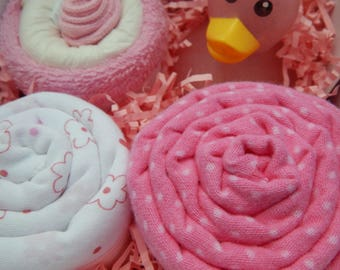 Pink Duck Baby Shower Gift Box, Rubber Ducky Baby Shower