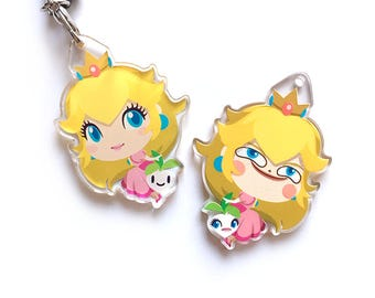 Princess Peach / PETCH Two Sided Acrylic Charm