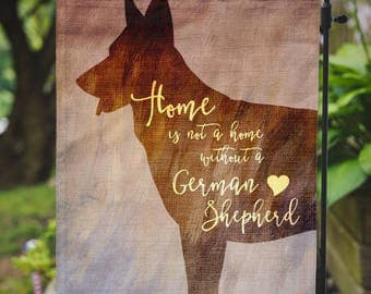 German Shepherd Yard Flag | Home Without a....Breed | Garden or Large House Flag | Size via Dropdown | Convo for Custom Breed