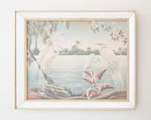 Framed Print 'Portrait of Great Egrets' by Turner
