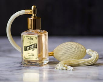 Lingerie Mist - Sugared Vanilla Perfume - Atomizer Bottle Spray 1 oz.