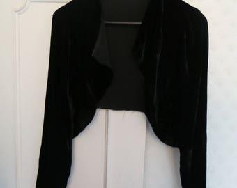 20s 30s silk velvet jacket AS IS