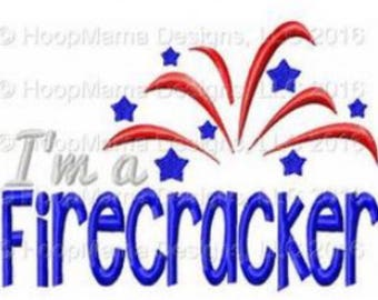 Im a firecracker - 4th of July Custom Applique Shirt -Ruffle or Flutter Tee