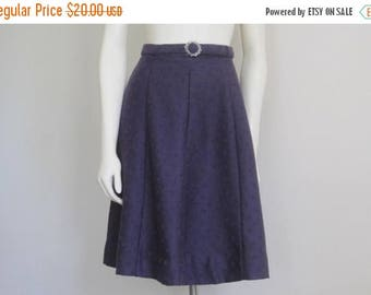 Purple Skirt / Aline / 1970s / Boho Hippie / Floral