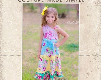 Ginger's One Should Top and Dress PDF Pattern - 6/12m to 8 girls