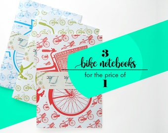 CLEAR OUT SALE! All three bike notebooks for the price of just one.