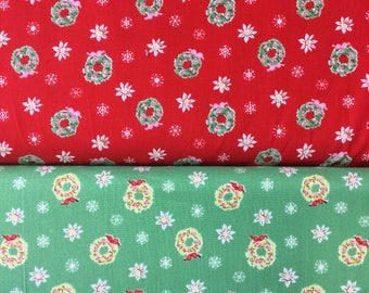 Penny Rose Little Joys by Elea Lutz Christmas Wreath in red or green by the half metre