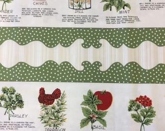"Wilmington print ""herbs"" print cotton fabric By The Half Metre"