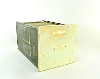 Hoosier Cabinet Tin Bread Box Drawer with Sliding Lid, Farmhouse Decor