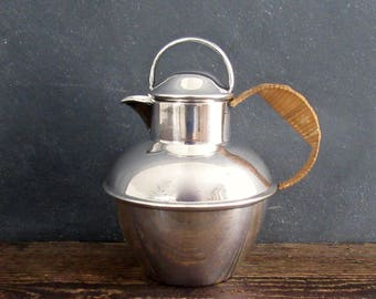 LB Smith Hollow Ware Water Pitcher, Silver plated Tea Pot, EPNS Superfine