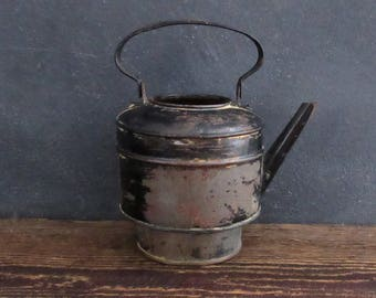 Primitive Metal Tea Pot, Vintage Watering Can, Succulent Planter, Farmhouse Decor, FREE SHIPPING