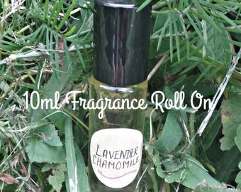 Lavender Chamomile Fragrance Oil Roll On - Natural Fragrances - Oil Fragrances - Aromatherapy - Elusive Wolf