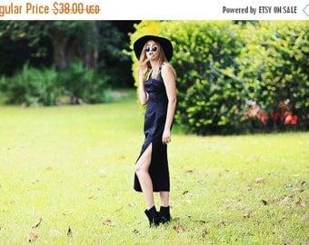 FLASH SALE 80s Gothic Sheer Dress Vintage Black Slit Sheer Long Gothic Dress