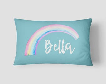 Personalised Name cushion Rainbow