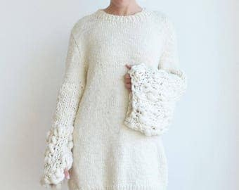 Oversized chunky knit sweater, Women's pullover, Trendy Plus size sweater tunics, Loose fit Winter fashion clothing