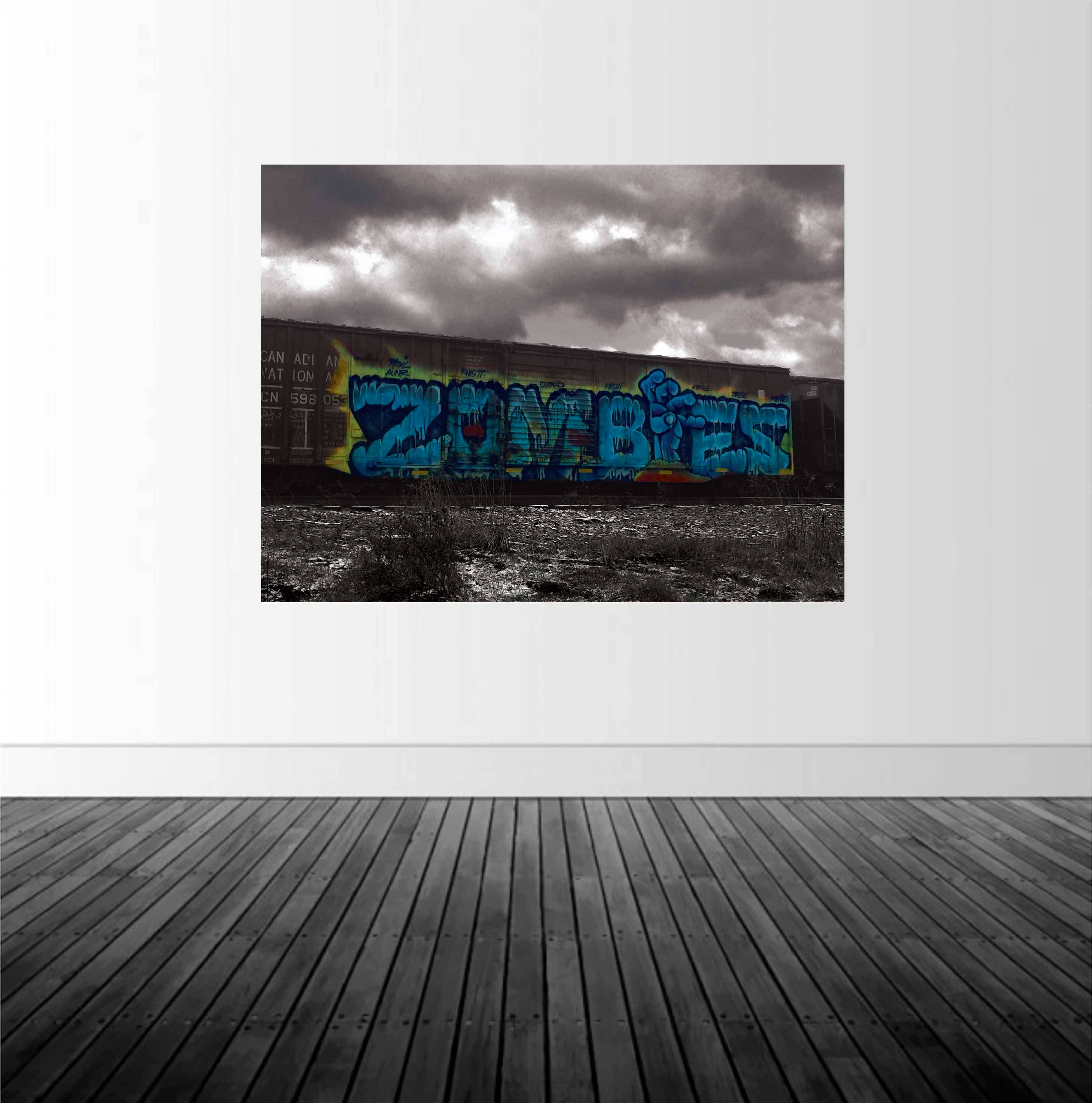 Graffiti Wall Decal, Train Wall Decal, Train Graffiti Decal, Vinyl Wall  Decal, Removable Decal, Zombie Decal, Zombie Graffiti, By Abby Smith